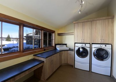 laundry roo minside of custom home built in steamboat springs