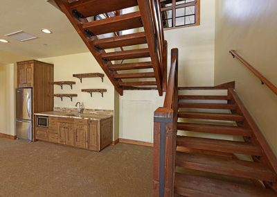 interior of custom home built by rivertree building